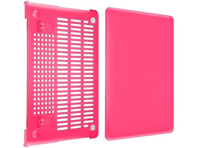 INSTEN Hot Pink Snap-in Rubber Case compatible with Apple MacBook Pro with Retina Display 13