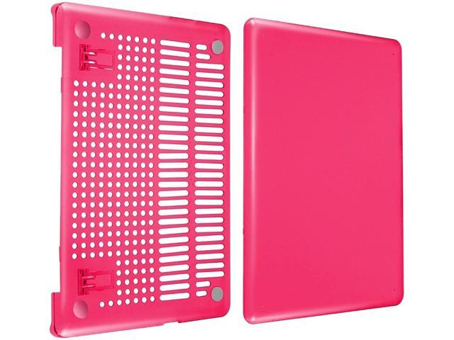 INSTEN Hot Pink Snap-in Rubber Case compatible with Apple MacBook Pro 13