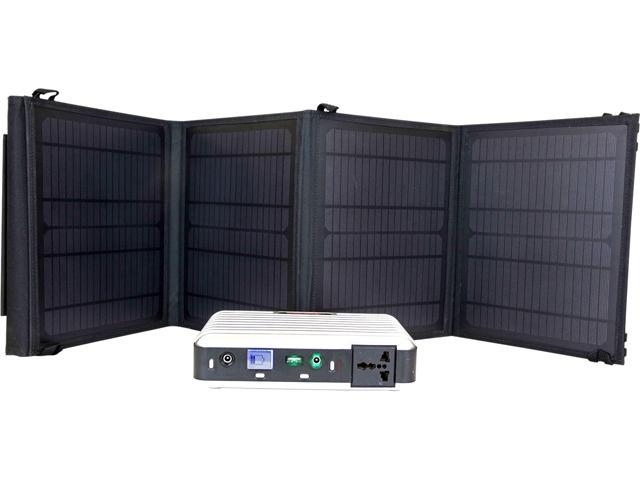 LB1 High Performance SK-28W160S PB160 Solar Generator Kit w/ 28 Watt Solar Panel Charger for All Electronic Devices