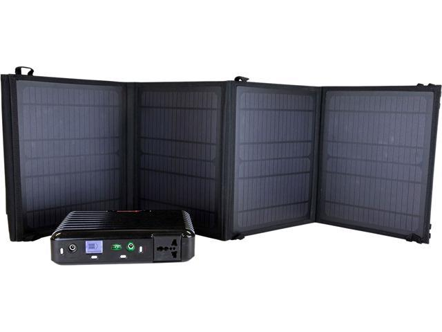 LB1 High Performance SK-28W160B PB160 Solar Generator Kit w/ 28 Watt Solar Panel Charger for All Electronic Devices
