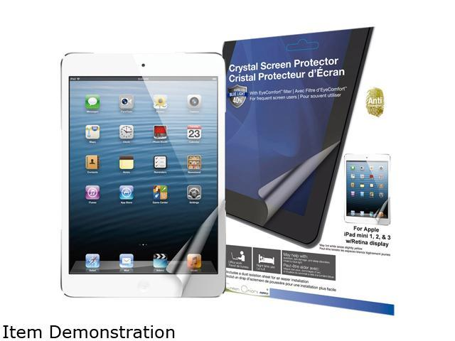 Green Onions supply Crystal Screen Protector with EyeComfort(tm) filter for Apple iPad mini and mini with Retina displayRT-SPIPADM01AFB