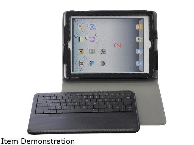 Solidtek Black iPad 2 Folio Case With Blutooth Keyboard Model KB-5331B