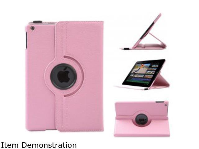 WXG Pink Pink 360 Rotating Folio Leather Ultra Smart Stand Case Cover for Apple iPad Air/Air 2 Bulk Model FOLIOAIR2HP