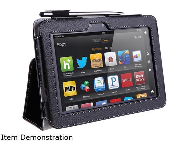 i-blason Slim Book Kindle Fire HD 8.9 Leather Case Cover With Bonus Stylus KindleHD89-606-Black