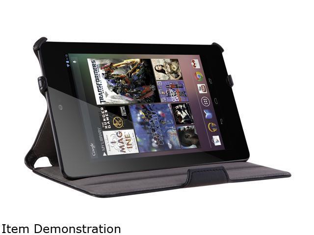 i-blason Book Shell Stand Case Google New Nexus 7 FHD 2 with Bonus Stylus Nexus7-Heated-Black