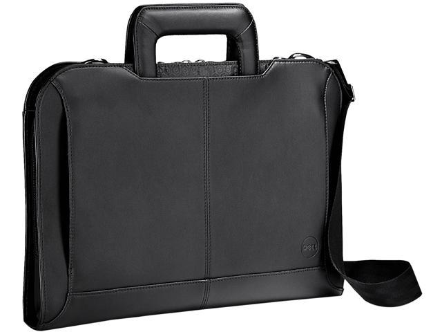 Dell Black with white stitching Leather Attache for XPS 13