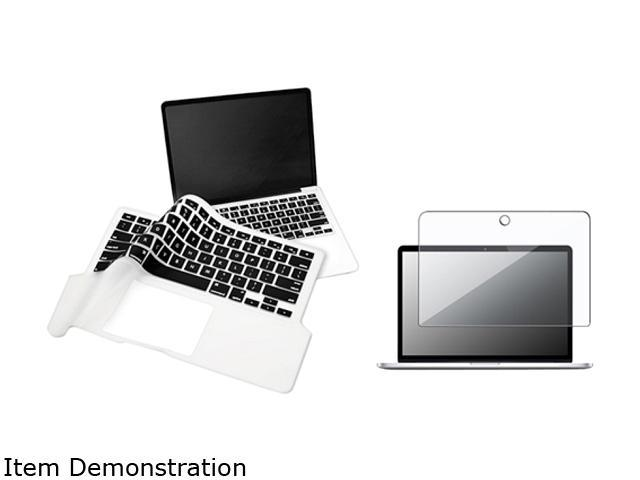 Insten Black Silicone Keyboard Cover + LCD Screen Protector For Macbook Pro 13.3