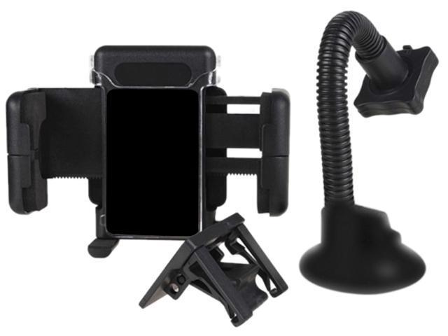 Insten Black Universal Swivel Windshield Phone Holder Compatible with Samsung© Galaxy S IV / S4 i9500, Black 1068210