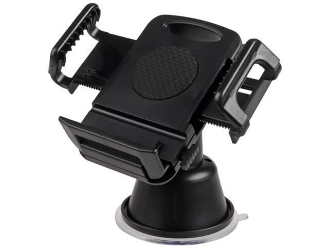 Insten Black Universal Suction Mount In Car Phone Holder Compatible with Samsung© Galaxy S IV / S4 i9500, Black 1068231