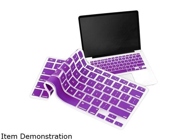 Insten Silicone Keyboard Skin Shield compatible with Apple MacBook Pro, Purple 1042779
