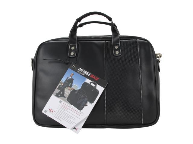 Mobile Edge Black/White Slimline Ultrabook Briefcase - 14.1