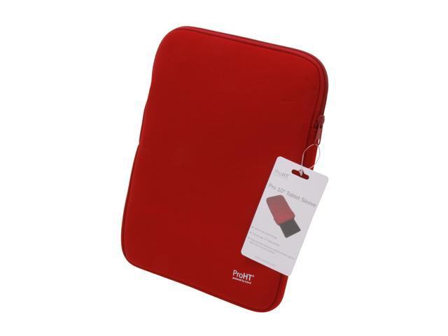 "Inland Red 10"" Simple Neoprene Sleeve with Zipper Model 02426"