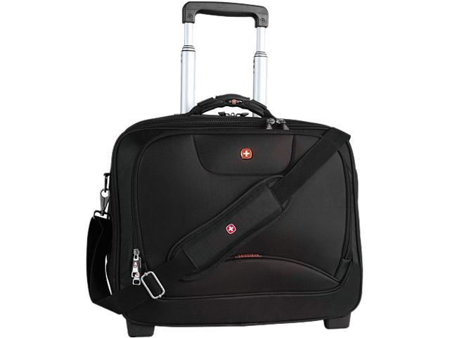 SwissGear Black Wheeled Business Case with Laptop Sleeve Model SWA0568