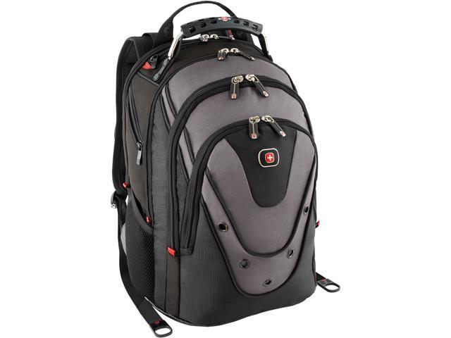 SwissGear Black/Gray Update Macbook Pro Backpack fits up to 15in ...