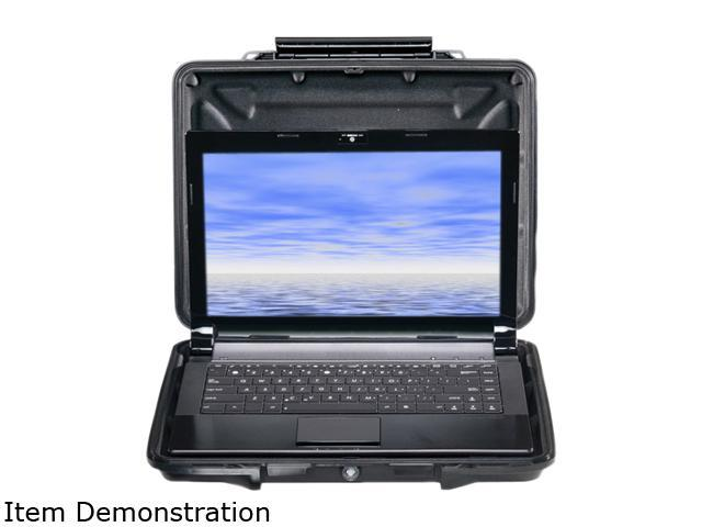 "Pelican Products HardBack 1085cc Carrying Case (Attaché) for 14"" Notebook - Black 1080-023-110"