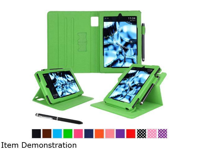 roocase Dual View PU Leather Folio Case Smart Cover Stand for Amazon Fire HD 7 (2014), Green