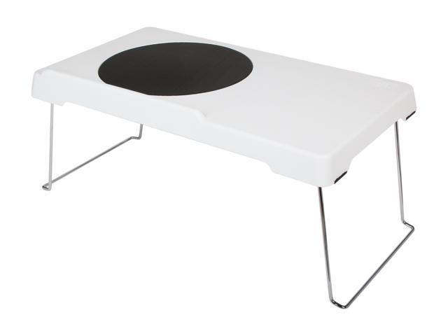 Logisys Corp. White E-Desk Laptop with 200 mm Fan (NP8000WT)
