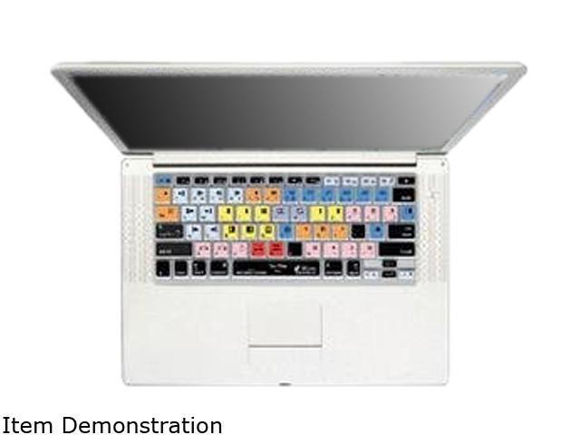 KB Covers Avid Media Composer Keyboard Cover for MacBook Pro (Silver Keys) & Powerbook MC-P-CC