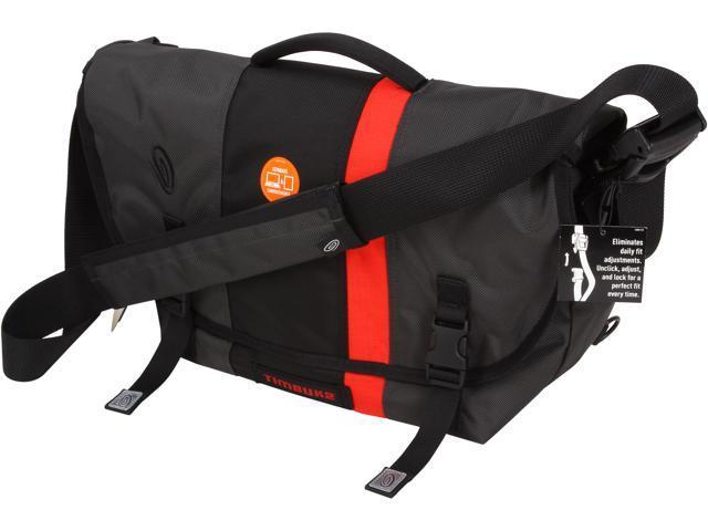 Timbuk2 Carbon Grey/Black/Bixie FC/Carbon Grey D-Lux Laptop Racing Stripe Messenger Model 165-4-2197