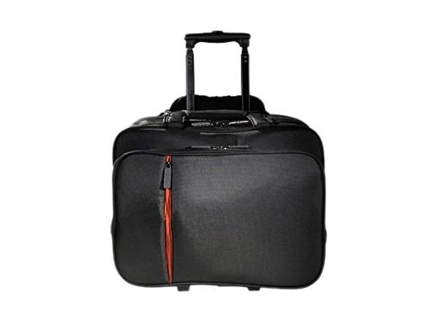 Eco Style Black Lightweight Rolling Case Fits Up to 16.1 inch Laptop Model ELUX-RC14-H