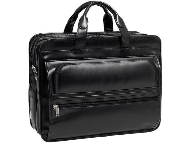 McKleinUSA Elston P Series 86485 Black Double Compartment Laptop Case for up to 17 Inches
