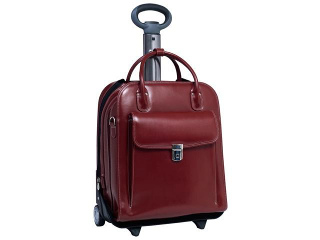 McKleinUSA La Grange W Series 96496 Vertical Detachable-Wheeled Ladies' Briefcase Red for Up to 15.4 Inches