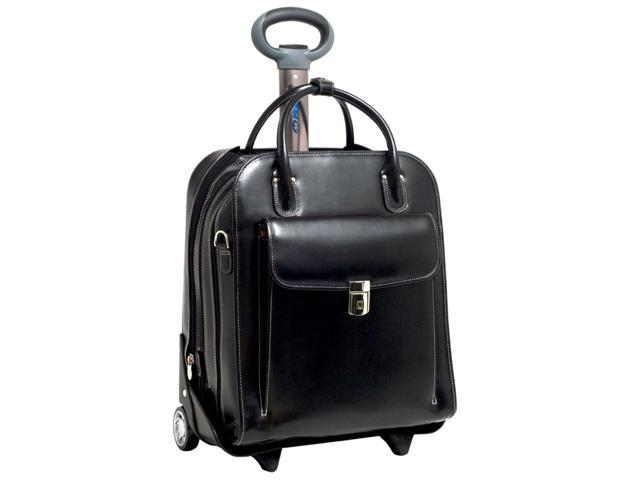 McKleinUSA La Grange W Series 96495 Vertical Detachable-Wheeled Ladies' Briefcase Black for  Up to 15.4 Inches