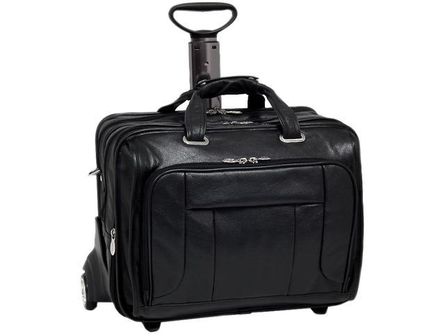 "McKlein Black 17"" WEST TOWN Fly-Through Checkpoint-Friendly Detachable-Wheeled Laptop Case Model 15705"