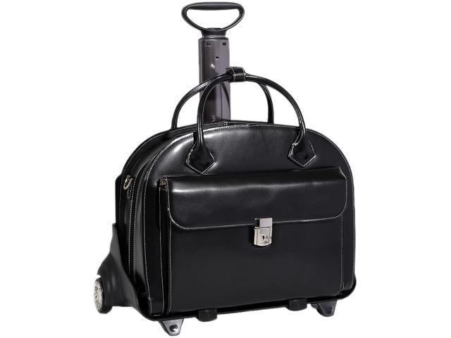 "McKlein Black 15.4"" GLEN ELLYN Detachable-Wheeled Ladies' Briefcase Model 94365"