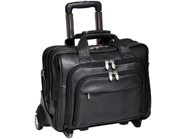 "McKlein Black 17"" GOLD COAST Detachable-Wheeled Laptop Case Model 43185"