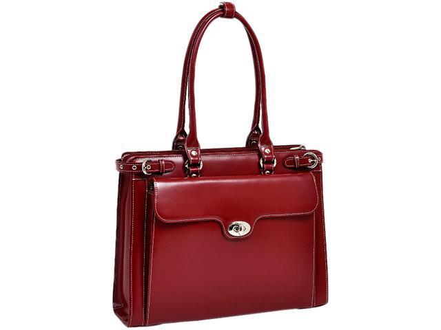 """McKlein Red 15.4"""" WINNETKA W Series Ladies' Briefcase Model 94836"""