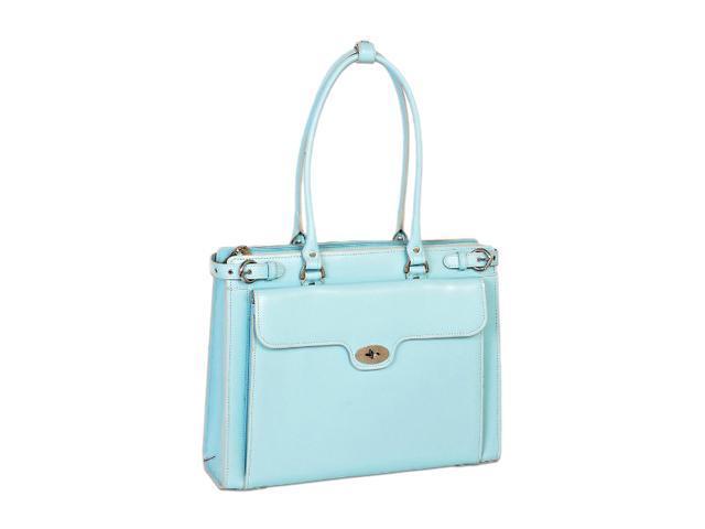 "McKlein Aqua Blue 15.4"" WINNETKA W Series Ladies' Briefcase Model 94838"