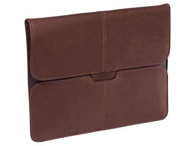 Targus Brown Hughes Leather Portfolio Slipcase for IPad Model TES01001US