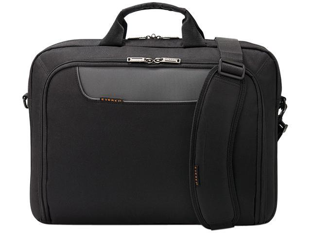 "Everki Black Advance Laptop Briefcase, fits up to 16"" Model EKB407NCH"