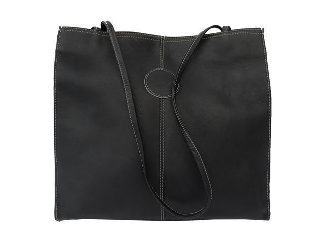 Piel LEATHER 2344-BLK Medium Market Bag Black