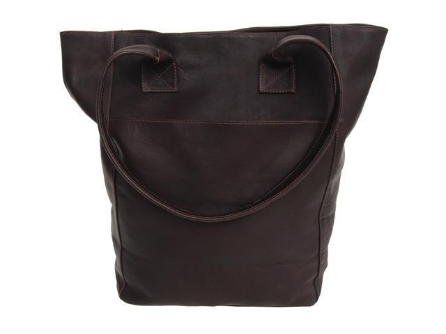 Piel LEATHER 7067-CHC XL Shopping Bag Chocolate