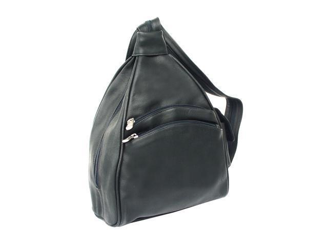 Piel LEATHER 9932-BLK Two-Pocket Sling Black