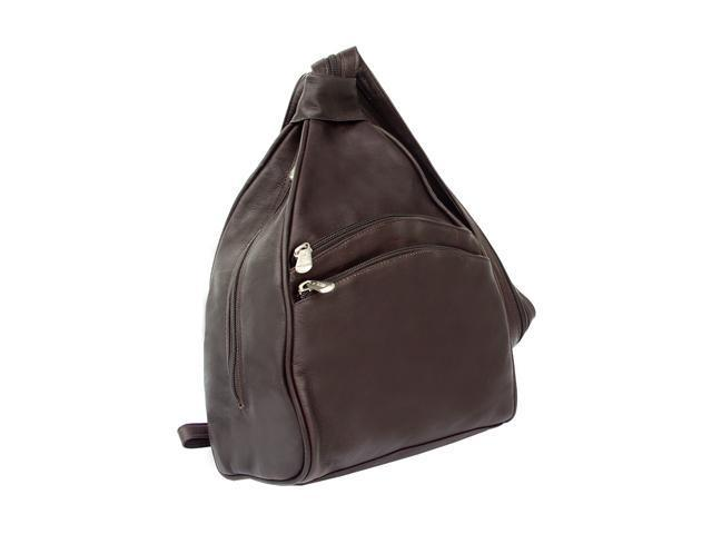 Piel LEATHER 9932-CHC Two-Pocket Sling Chocolate