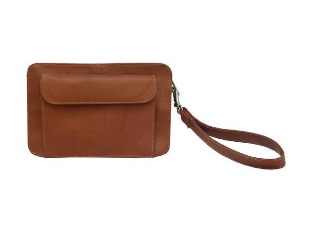 Piel LEATHER 2290-SDL Men's Organizer Bag - Saddle