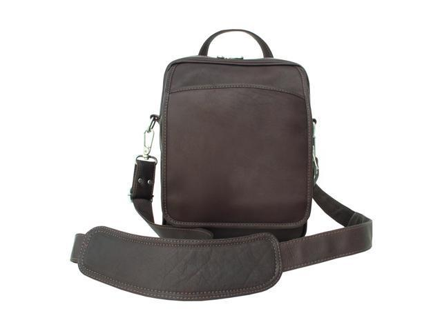 Piel LEATHER 2630-CHC Traveler's Men's Bag - Chocolate