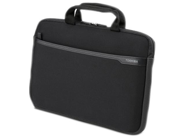 "TOSHIBA Black 13"" Neoprene Laptop Sleeve Model PA1502U-1SN3"