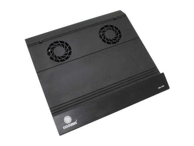 COOLMAX 2 Fans Aluminum Notebook Cooling Pad w/ 2 USB ports Model NB-400