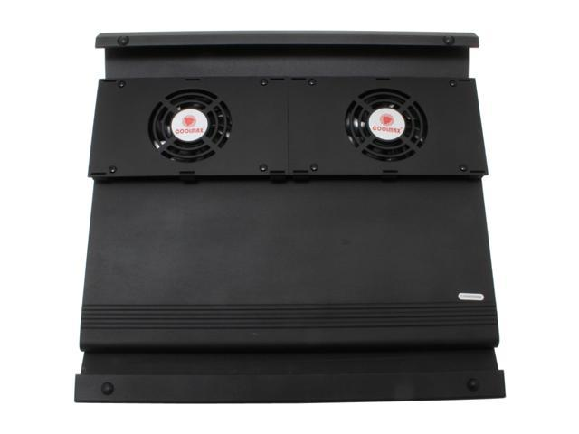 COOLMAX 2 Fans Aluminum Notebook Cooling Pad w/ 2 USB ports Model NB-400