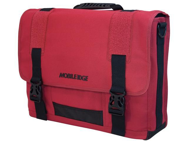"""Mobile Edge Red 17.3"""" The ECO Friendly Laptop Messenger Model MECME7"""