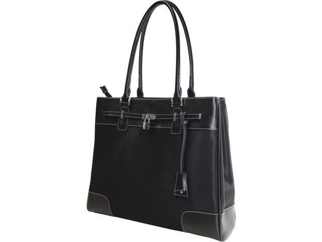 Mobile Edge Black Madison MicroFiber/Leather Tote - 15.4