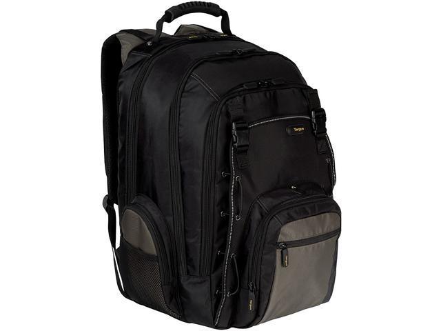 """Targus Black/Gray 15.4"""" CityGear Chicago Notebook Backpack Model TCG650"""