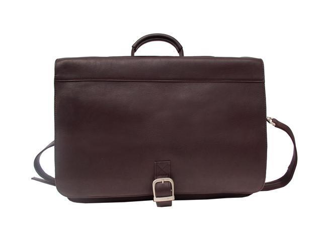 Piel LEATHER 9165-CHC Executive Briefcase - Chocolate