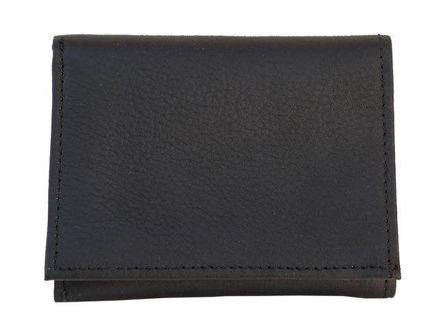 Piel LEATHER 9053-BLK Black Tri-Fold Wallet