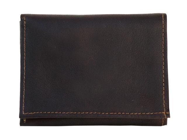 Piel LEATHER 9053-CHC Chocolate Tri-Fold Wallet