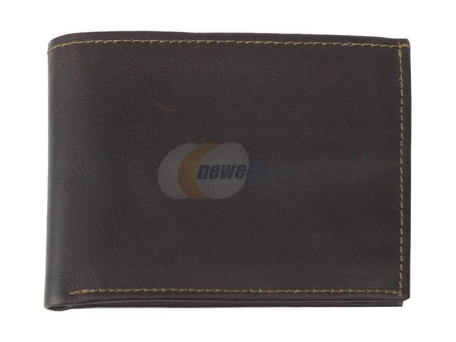 Piel LEATHER 9052-CHC Chocolate Bi-Fold Wallet